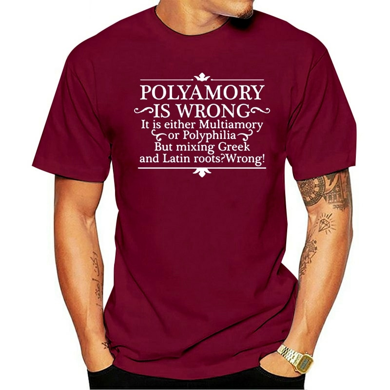 Camiseta gramáticalongsleeve 2020 polyamory é piada errada