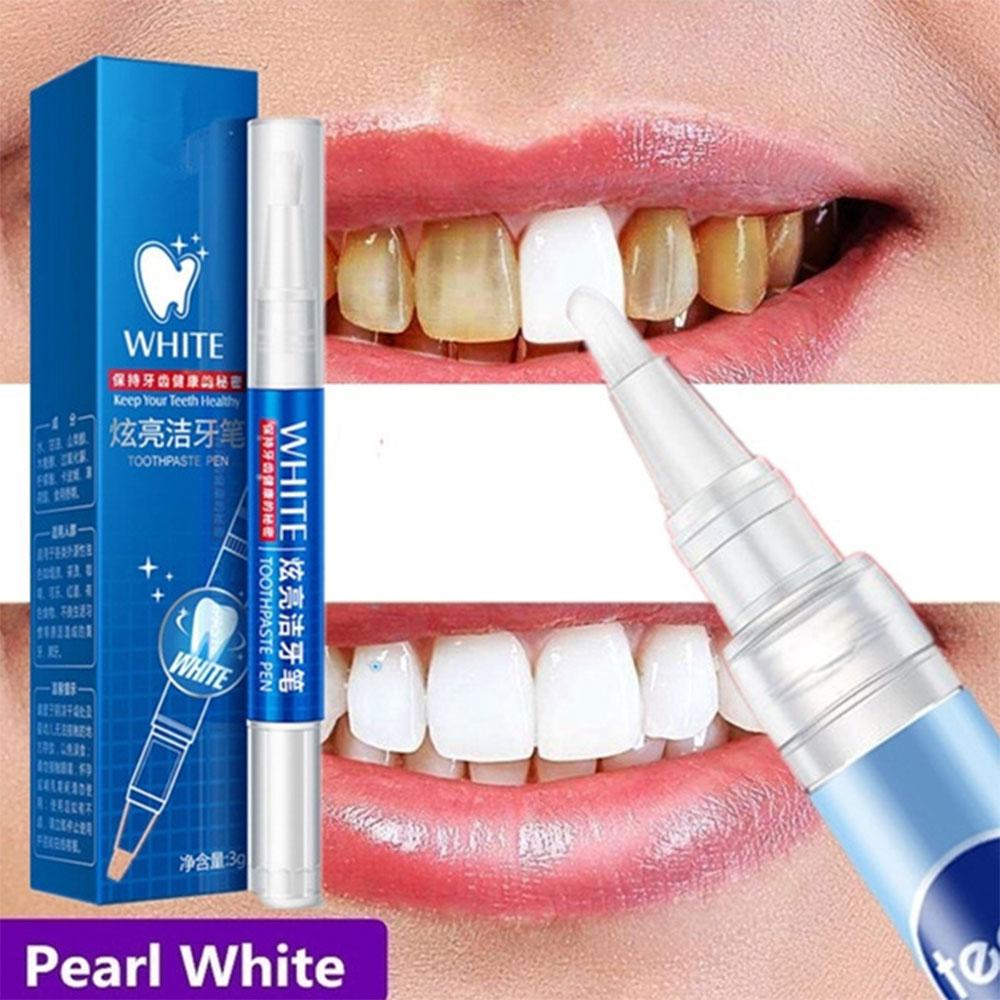 Teeth Whitening Pen Cleaning Serum Plaque Stains Remover Teeth Bleachment Dental Whitener Oral Hygiene Care Teeth Whitener 3ml