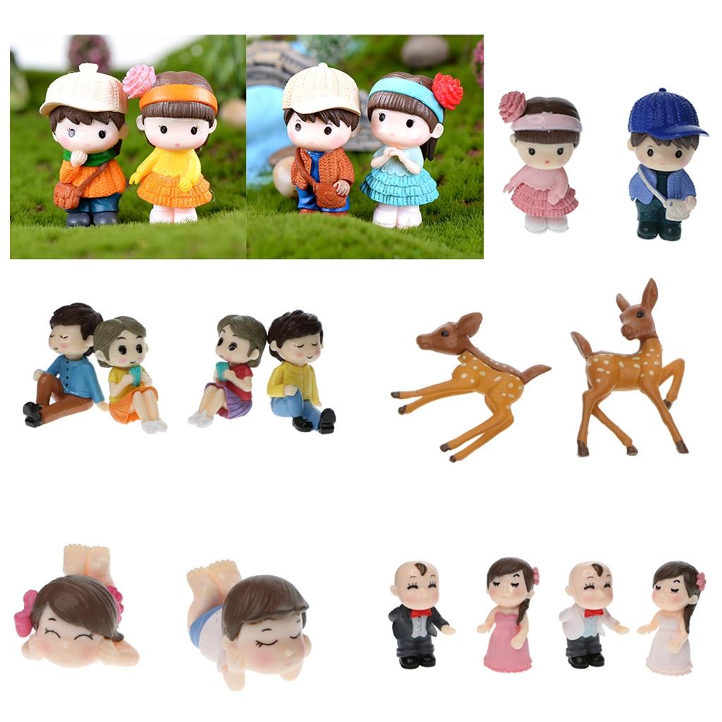 Различные садовое украшение миниатюрное статуэтки ремесло Фея кукольный домик украшение милая пара Свадебный декор