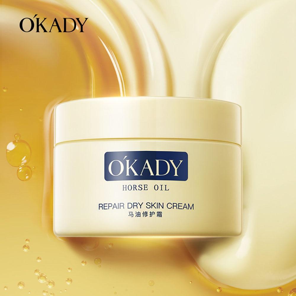 Horse Oil Facial Cream Moisturizing Horse Oil Whitening Cream Skin Care Products Firm Repair Dry Cracked Face Cream Hand Cream