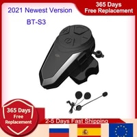 2021 version bt s3 intercomunicador moto motocicleta motorcycle intercom ipx7 fm 1000m motorcycle intercom bluetooth