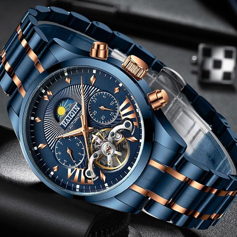 HAIQIN Mechanical mens/mens watches top brand luxury Watch men Business sport wristwatch men clock 2019 reloj hombre tourbillon