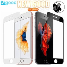 500D Curved Edge Full Cover Tempered Glass For iPhone SE 2020 6 6S 7 8 Plus Glass on iphone7 iphone8