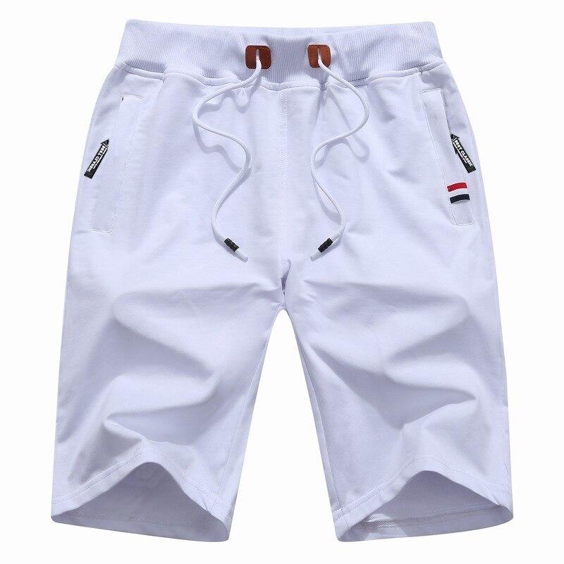 Спортивные мужские шорты 2021, однотонные мужские шорты, летние мужские пляжные шорты, хлопковые повседневные мужские спортивные шорты, Мужс...