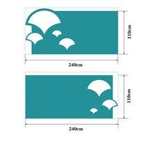 Panneaux muraux en Fiber de Polyester   Panneaux acoustiques personnalisés pour maternelle, planche acoustique décorative Ginkgo biloba 110x240cm 2 pièces 40 couleurs