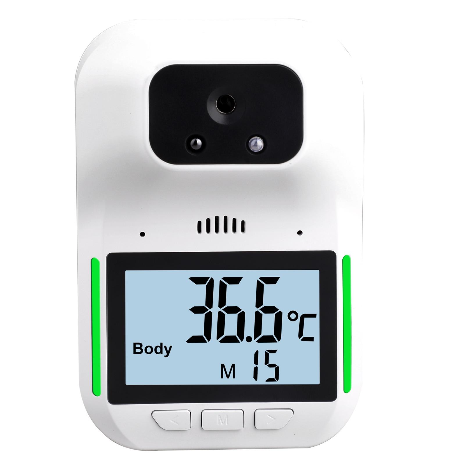 Sensor de Temperatura Laser com Alarme Fixado na Parede k3 sem Contato Termômetro Infravermelho Digital Pro Testa Mão Arma Febre Hk3 –