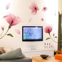 romantic love flower wall stickers furnishings living decoration wall room decor sticker d4m8