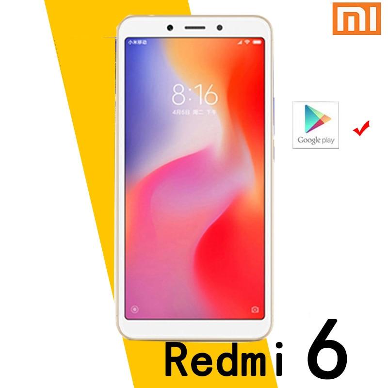 هاتف شاومي ريدمي 6 الذكي جوجليبلاي يعمل بنظام أندرويد ، ذاكرة وصول عشوائي 4 جيجابايت وذاكرة داخلية 64 جيجابايت ، خاصية فتح الوجه MT6762 Helio P22