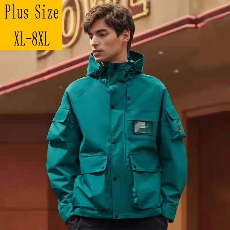 Парка мужская зимняя, непродуваемая куртка с капюшоном, Анорак, бархатная, плотная, теплая, пузырьковое пальто