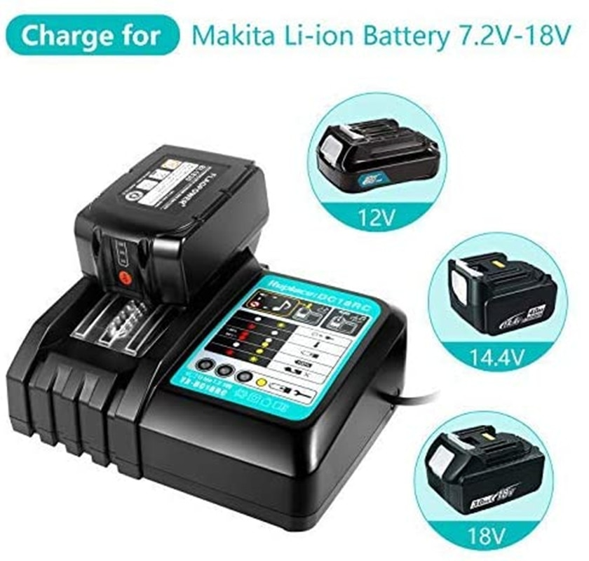 new dc18rct li ion battery charger 3a charging current for makita 14 4v 18v bl1830 bl1430 dc18rc dc18ra power tool DC18RC Li-Ion Battery Charger 3A Charging For Makita 14.4V 18V Bl1830 Bl1430 Dc18Ra Electric Power DC18Rct Charger