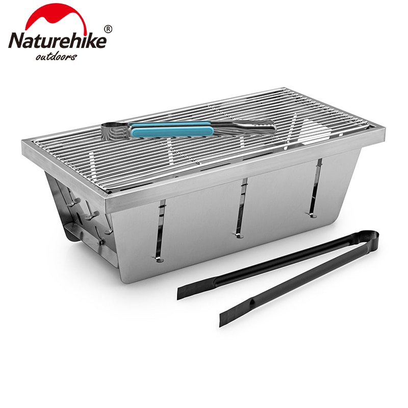 Naturehike Outdoor Camping Cooking Hiking Grill  Folding Portable Campfire Grill Lightweight Steel Mesh Barbecue NH20CJ006