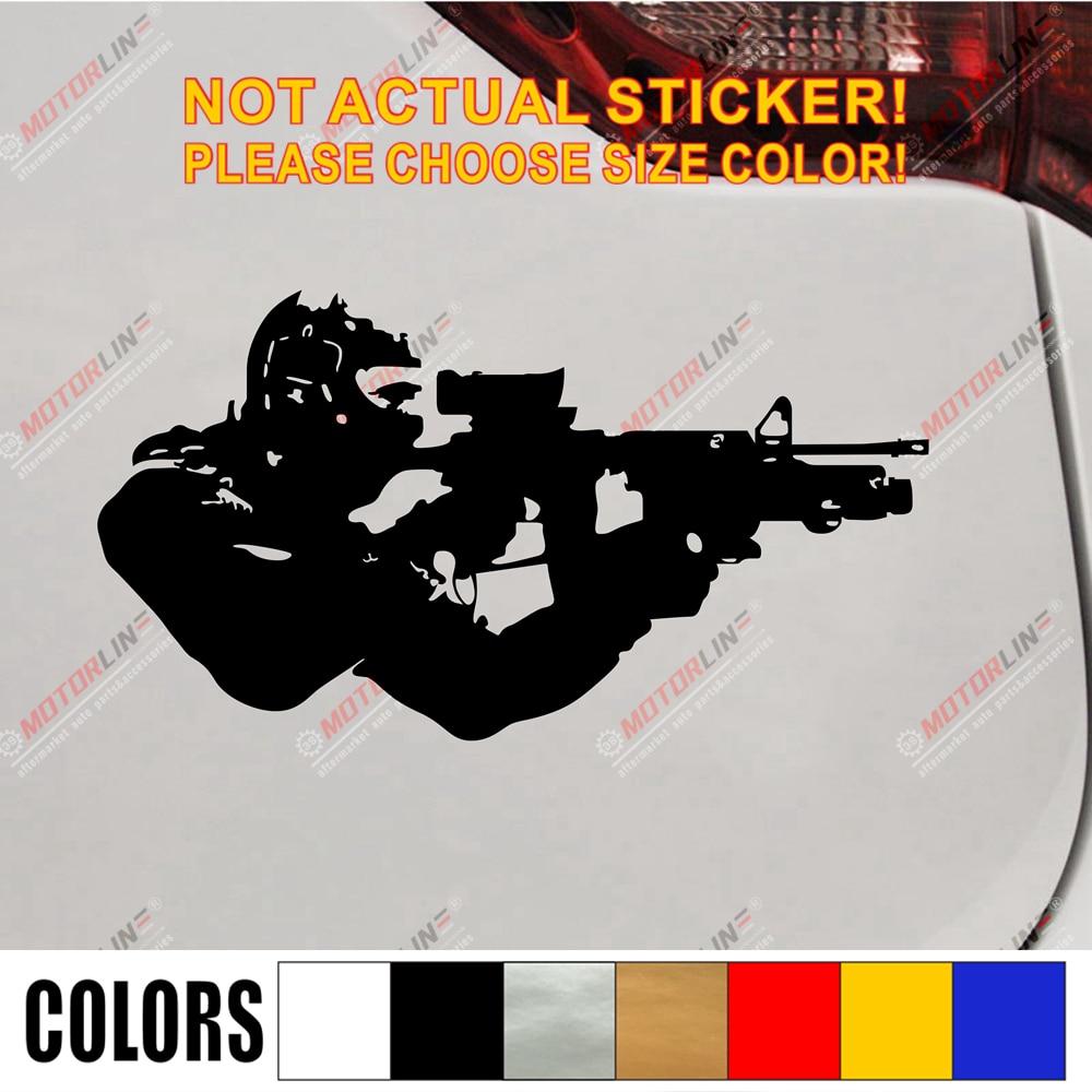Наклейка на бампер для автомобиля в армейском стиле, Виниловая наклейка на окна, выберите размер и цвет!