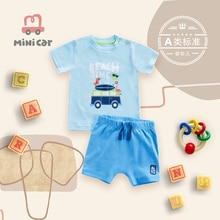 Brand Cotton Baby Sets Leisure Fashion Summer Clothes Boy T-shirt + Shorts Sets Toddler Clothing Bab