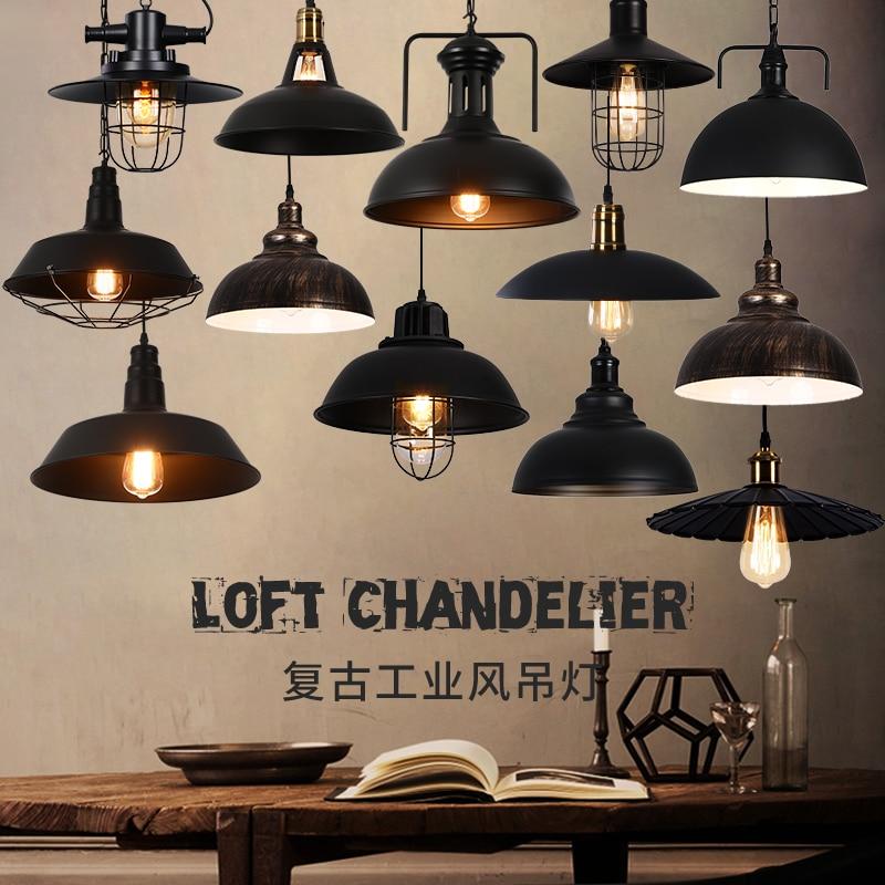 Подвесные светильники для фермерского дома, винтажные промышленные лампы, черный металлический регулируемый шнур, амбар, кухня, холл, столо...