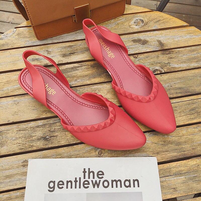Cheap 2021 Women Clogs Jelly Sandals Home Non-slip Hole Shoes Female Flat Slippers Plastic Girls Waterproof EVA Garden Shoes