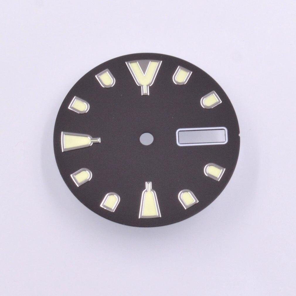 Verde Luminoso Estéril Dial Ajuste Nh36 Nh36a Movimento Assista 28.5mm c3