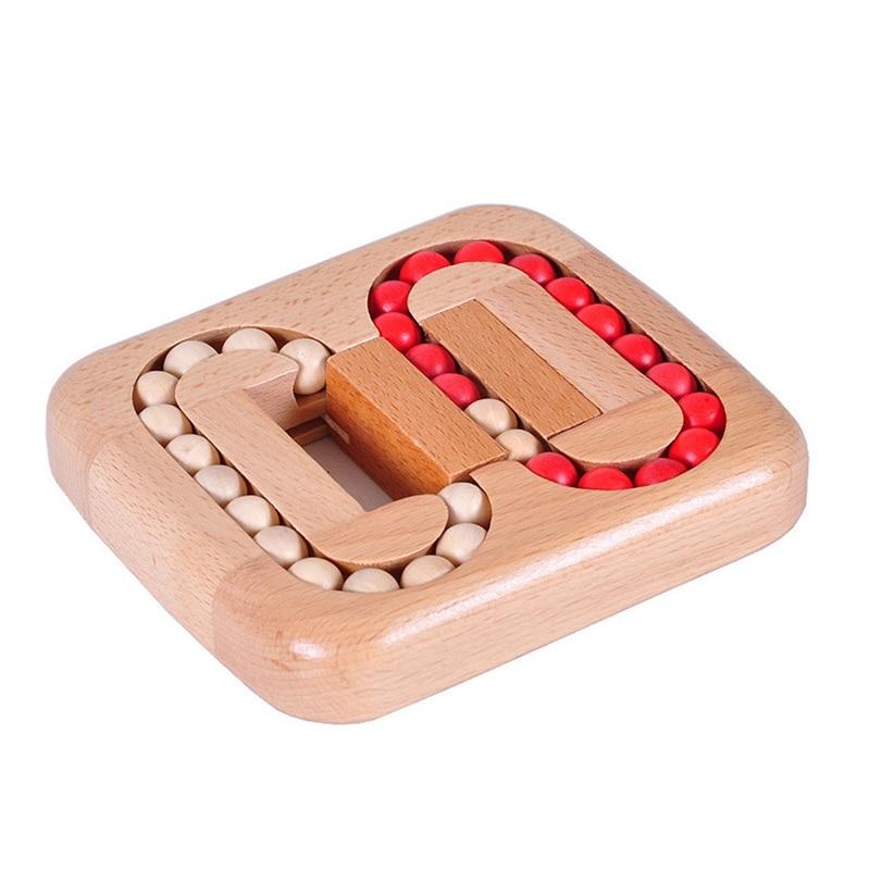 IQ Puzzle rompecabezas juguete de adultos, bola de madera, laberinto, juego de Sudoku, juego de rompecabezas de juguete para niños y adultos