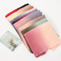 hijabs women scarf patching color wrinkled long shawl female spot wholesale gradient four seasons universal sunscreen headscarf