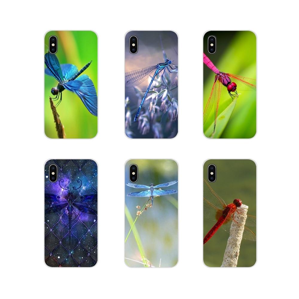 Hermosa Dragonflys para Apple iPhone X XR XS 11Pro MAX 4S 5S 5C SE 6 6S 7 7 Plus ipod touch 5 6 accesorios de la cáscara del teléfono cubre