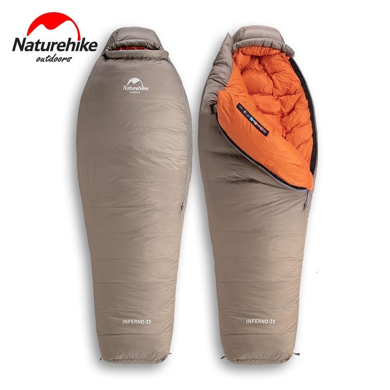 Naturehike 2019 20D Winter Thicken Mummy Goose Down Sleeping Bag Super Keep Warm 750FP Comfort Restriction Temperature -15℃ -42℃