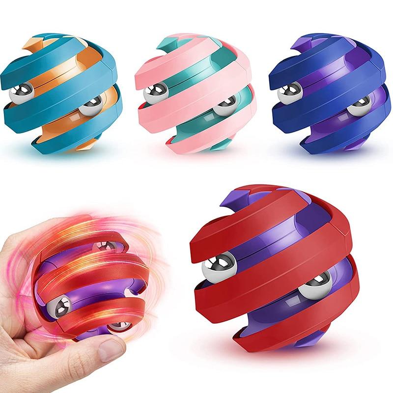 Игрушка-антистресс на кончик пальца, вращающиеся шарики, спиннинговые игрушки-антистресс, развивающие вращающиеся пазлы-шарики для детей