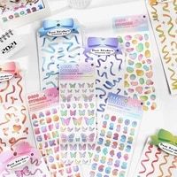 journamm colorful ribbon cute stickers art supplies aesthetic deco planner junk journal stickers korean stationery supplies