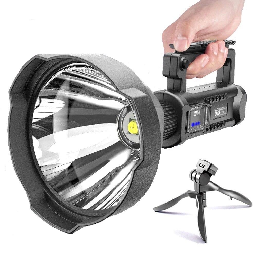 Мощный светодиодный фонарик XHP70, супер яркие портативные прожекторы, водонепроницаемый прожектор, USB фонарик 8000 Люмен, Прямая поставка