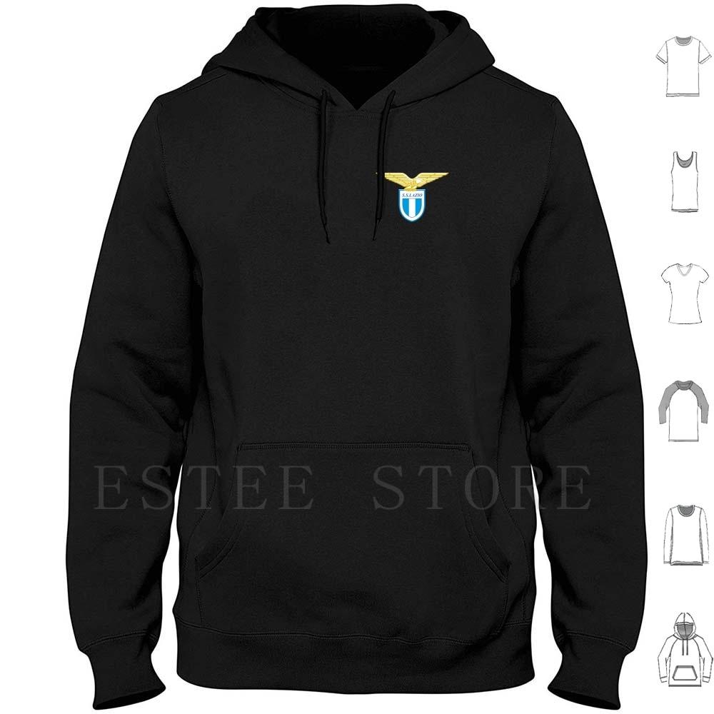 Lazio Italian Soccer Team Hoodies Long Sleeve Lazio Logo Football Italy Blue Golden League Spain Venice Europe Europa