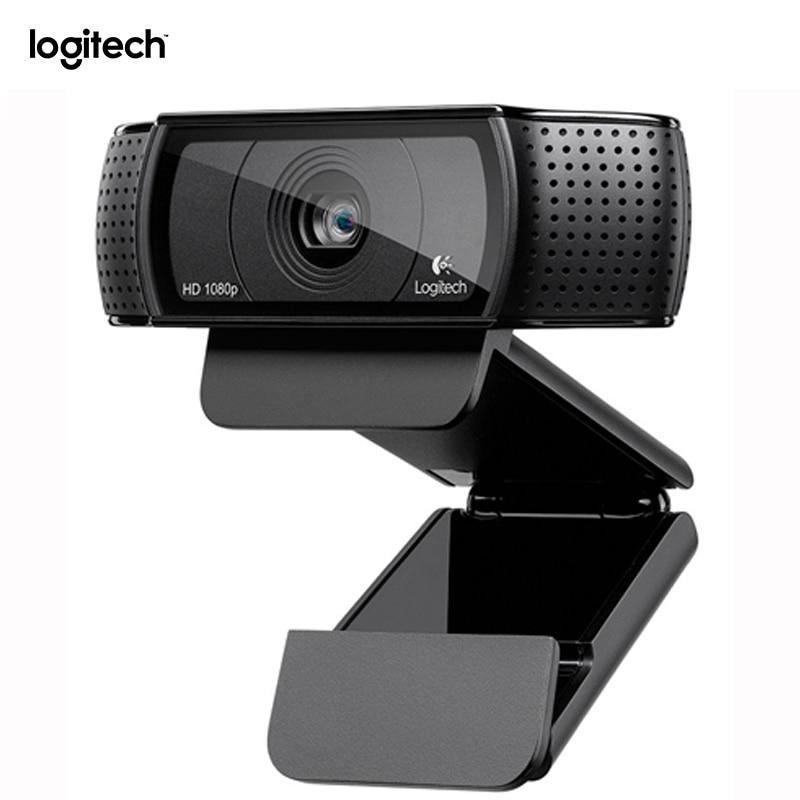 لوجيتك-كاميرا ويب C920 Pro بدقة 15 ميجابكسل ، كاميرا ويب ذكية عالية الدقة 1080 بكسل ، شاشة عريضة ، مكالمة فيديو سكايب ، كمبيوتر محمول ، Usb