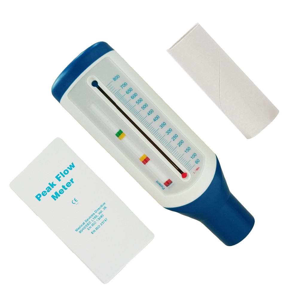 Medical Adult Portable Spirometer Peak Flow Meter Speed Monitor Expiratory Flow for Lung Asthma Breath Function Level Tool