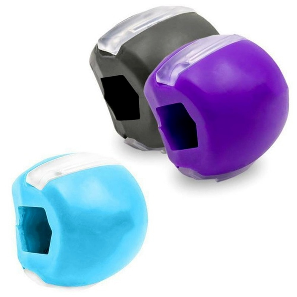 1pc Face Masseter JawLine Exercise Ball Mouth Jaw Muscle Exerciser Chew Ball Chew Bite Breaker Training Face Lift Muscle Fitness