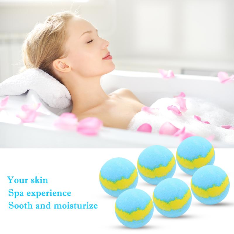 100g Natural Bubble Bath Bomb Ball Essential Oil Bath SPA Exfoliating Whitening Moisturizing Relax Bath Salt Body Skin Tool недорого