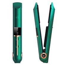 Wireless Hair Straightener Fast Heat 2 In 1 Hair Ionic Flat Iron Hair Straightener Hair Curler Heati