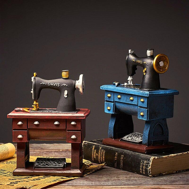Antique Home Decor Pen holder Gun Libra Sewing Machine Model Antique Imitation Nostalgia Ornament Craft Bar Home Decor Gifts