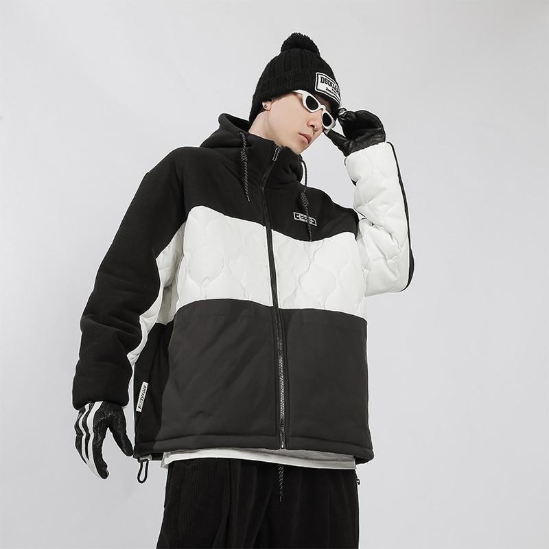 Зимние теплые мужские флисовые куртки, модная Толстая куртка-бомбер большого размера, Повседневная теплая верхняя одежда, ветрозащитные па...