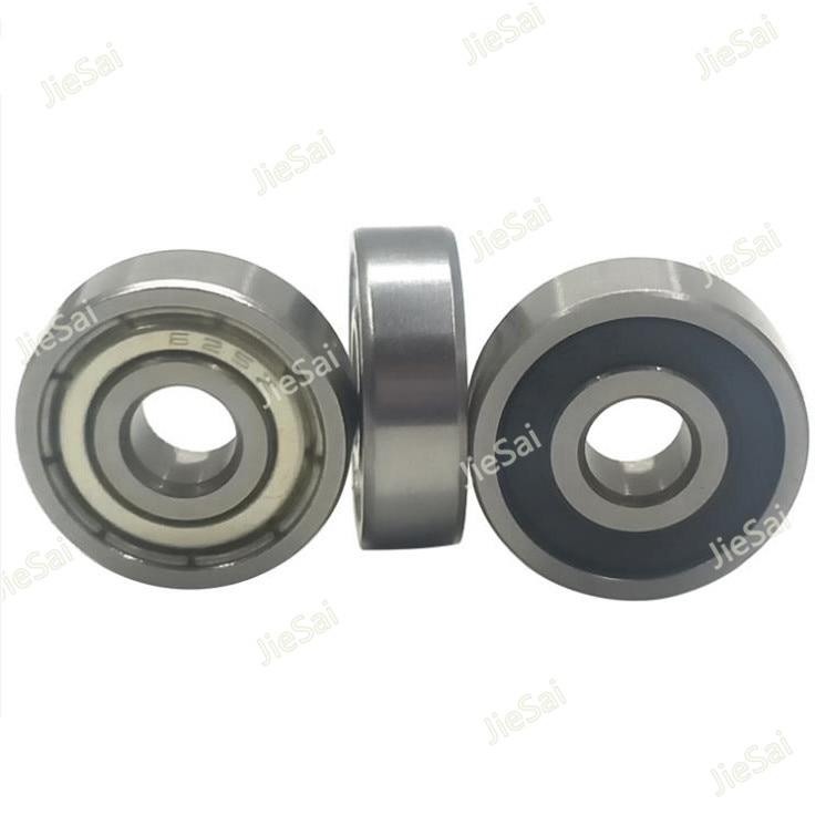 10/20 piezas rodamientos de bolas 623, 624, 625, 626, 627, 628, 629 caucho sellado rodamiento de bolas de ranura profunda rodamiento en miniatura con reborde de la polea de la rueda
