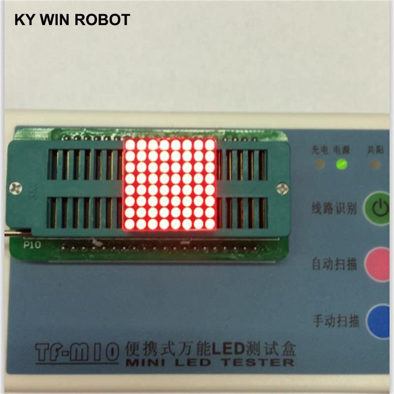 3mm 8x8 led treliça vermelho brilhante display led comum cátodo ânodo max7219 dot módulo matriz 8x8*8 para arduino