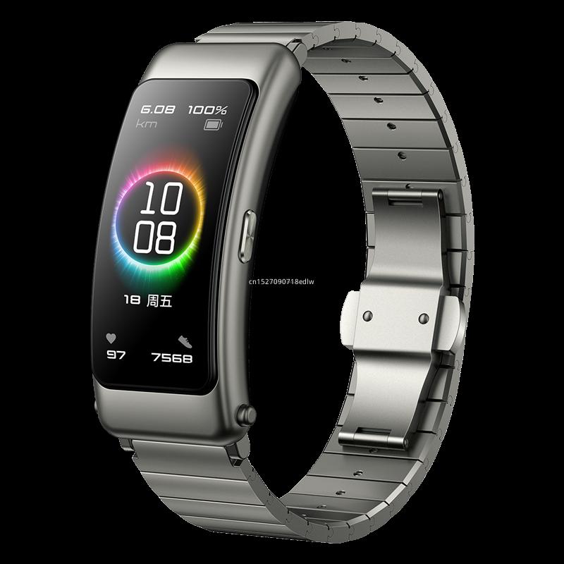 Review 99% New Global Version Huawei TalkBand B6 Width Bluetooth Smart Bracelet Sport Wristbands Touch AMOLED Screen Call Earphone Band