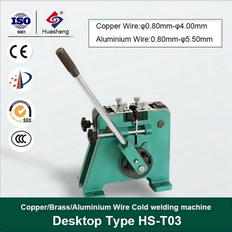 Copper Aliminum Gold Silver nickel platinum Zinc tin Wires Cables cold pressure welding machine  - buy with discount