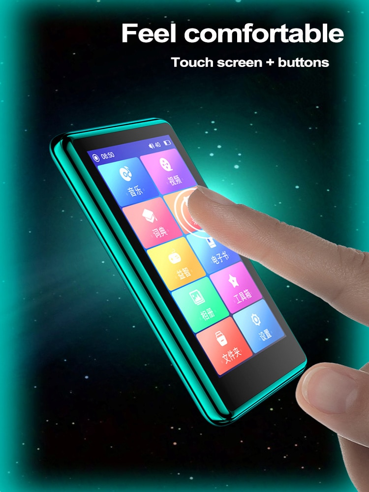 4.0 Inch Bluetooth Mp4 Player Touch Full Screen Built-in Speaker Music Player with Fm E-book Game Record Video Media Player enlarge