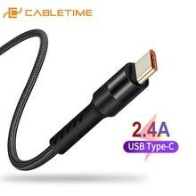 Cable USB tipo C Cable para teléfono móvil carga rápida Cable para Samsung S9 Huawei P10 Nintendo Oneplus 5 C245