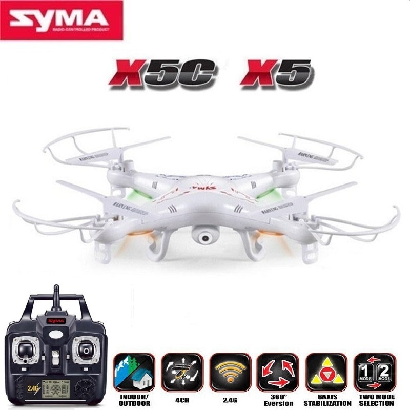 Syma x5c (versão de atualização) rc zangão 6-axis helicóptero de controle remoto quadcopter dron com câmera de 2mp hd ou x5 rc zangão nenhuma câmera