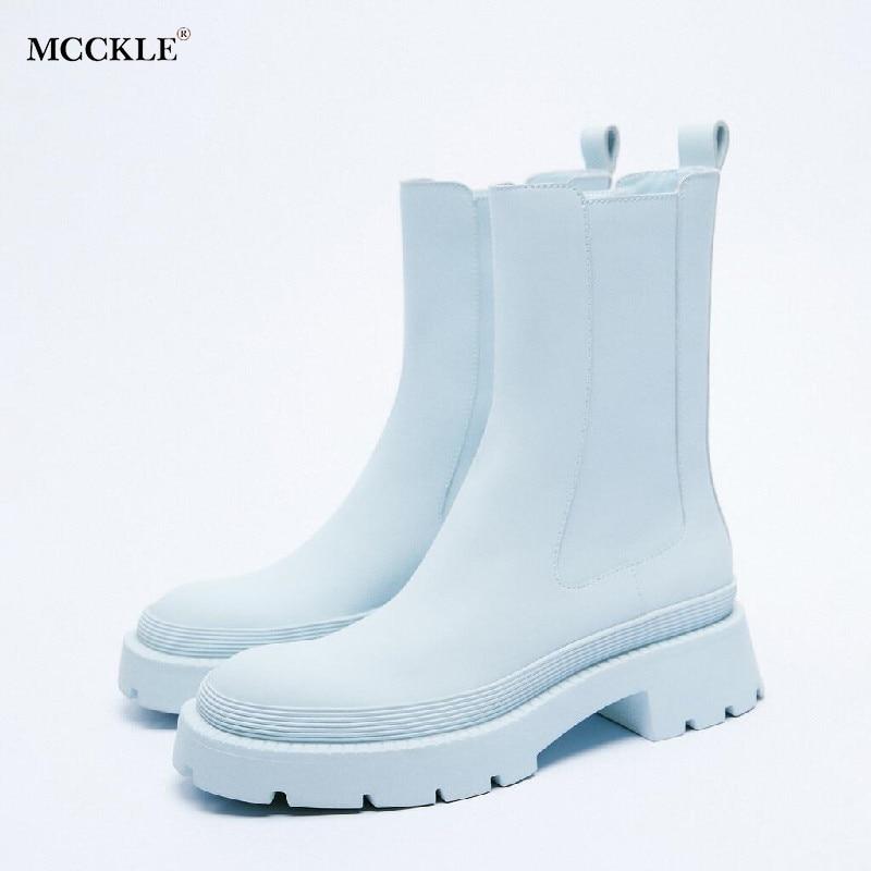 جديد المرأة حذاء من الجلد للسيدات الفتيات موضة الخريف الشتاء ZA تشيلسي الأحذية بولي Leather الجلود سستة حذاء بكعب سميك طويل الأحذية 2021