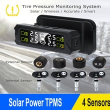Tire Pressure Monitoring System Temperature Warning Solar Power Tyre Pressure Sensor Car TPMS Auto S