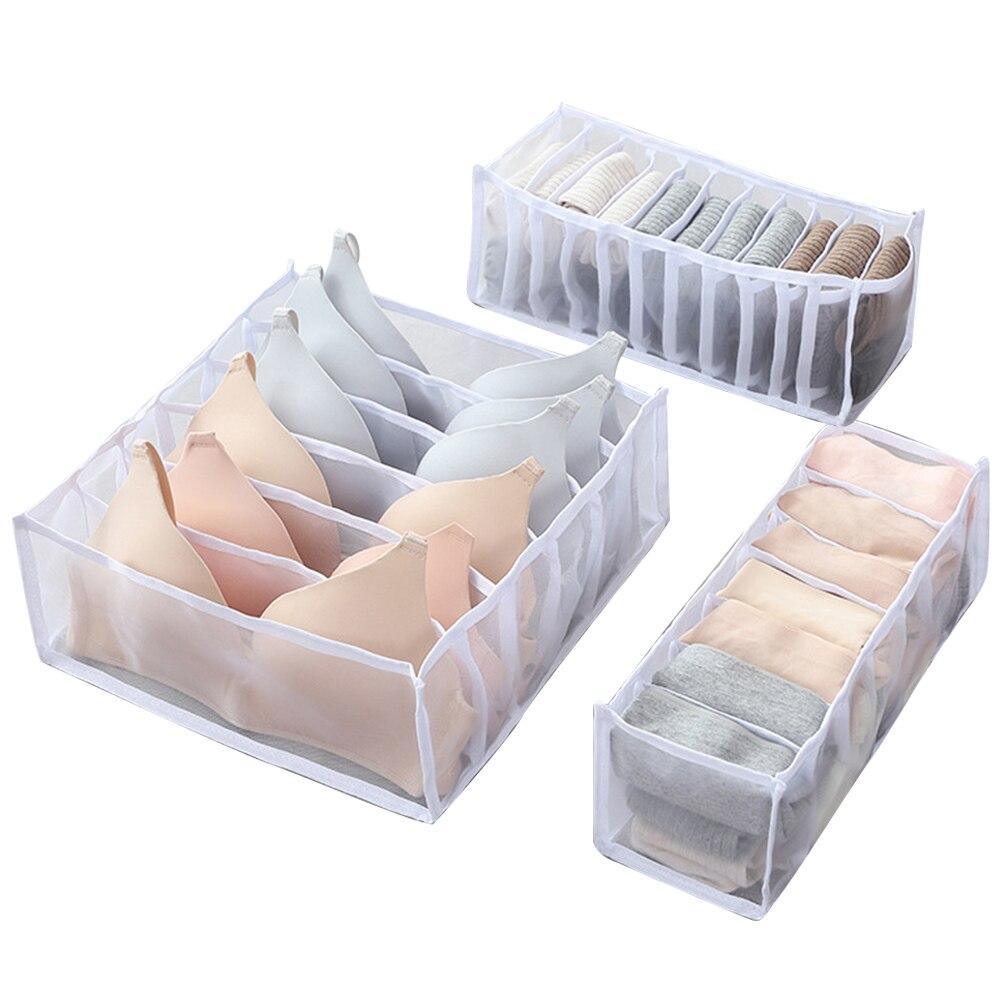 3db-os tároló doboz 5 színben, fiókos szekrényrendező dobozok sálakhoz, zoknikhoz, melltartókhoz és fehérneműkhöz