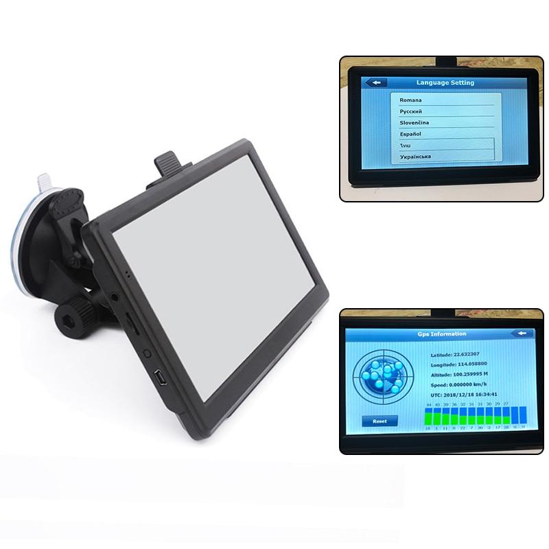 New 7inch 8GB Navigator Set Car Truck HGV GPS Navigation Maps Car GPS Navigator HD Traffic Alarm Truck Free Life Time Updates