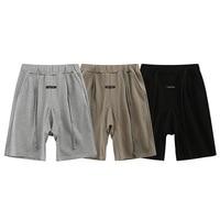 Fog double line essentials Capris fashion brand loose sports shorts men\'s and women\'s beach pants