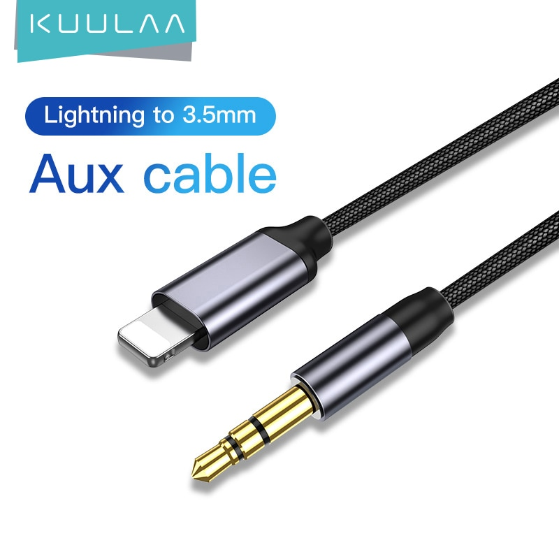 KUULAA-Cable auxiliar para iPhone 11 Pro, XS, Max, X, XR, 8, 7,...