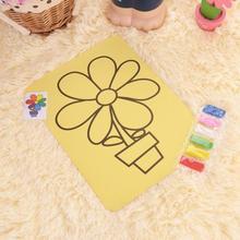 New Children DIY Sand Painting Toys Creative Cartoon Educational Kids Montessori Crafts Doodle Color