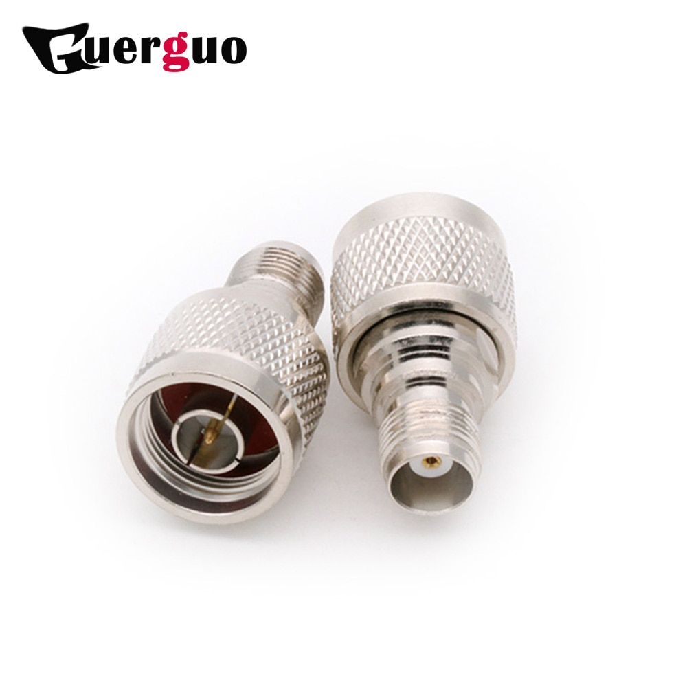 high quality copper rf coaxial coax n male to sma male connector sma to n plug adapter TNC Female Jack to N Male Plug Adapter High Quality Copper TNC Jack to N Plug Straight Connector RF Coaxial Adapter